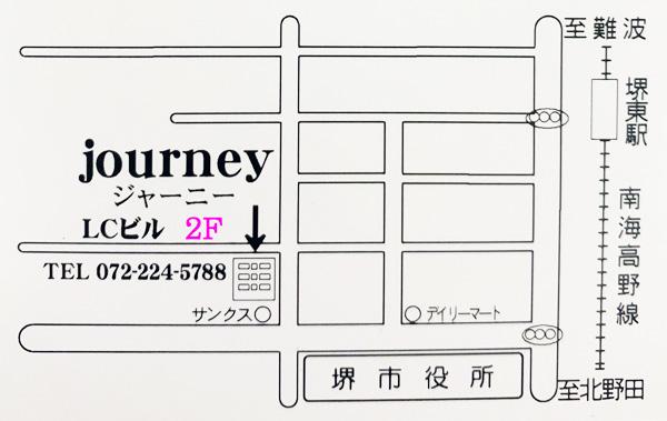 堺東のスナックジャーニー地図